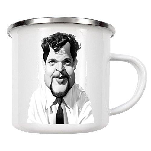 """artboxONE Emaille Tasse """"Orson Welles"""" von Rob Snow - Emaille Becher Film"""