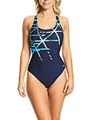 Zoggs Women's Equation Actionback Eco Fabric One Piece Swimsuit