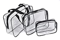 Storage bag,MML 2017 New Portable Clear Travel Cosmetic Make Up Bag Transparent See Through (A)