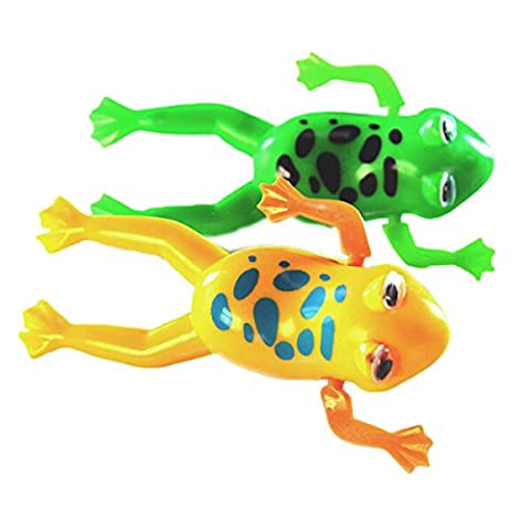 SODIAL(R) Swimming Frog Pool Bath Cute Toy Wind-Up Swim Frogs Kids Toy #1
