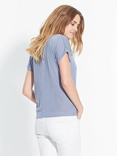Balsamik - Tee-shirt, détails guipure - femme Bleu