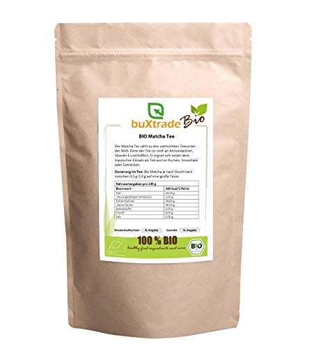 1 kg BIO Matcha Tee in Pulverform – grüner Matcha | Grüntee | Tea | Pur | grün