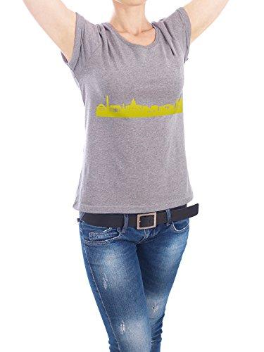 """Design T-Shirt Frauen Earth Positive """"Washington 06 Skyline Spring-Green Print monochrome"""" - stylisches Shirt Abstrakt Städte Städte / Washington Architektur von 44spaces Grau"""