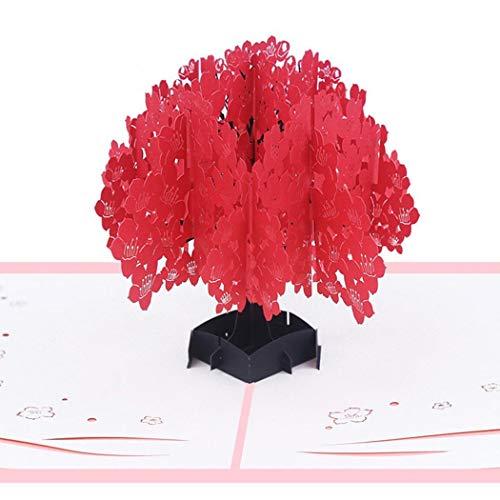 Murieo Cadeaux de Carte d'invitation Papier créatif 3D Carte de voeux d'anniversaire de Dessin animé Papier cartonné