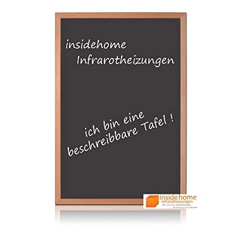 insidehome   Infrarotheizung Tafel CLASSIC   Vollholz - Rahmen Buche 30mm   hochwertige Glasheizung sandgestrahlt   deutscher Hersteller   500 Watt (90x60x2,5 cm)