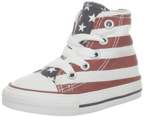 Converse Stars & Bars Hi, Baskets mode mixte enfant Blanc (Blanc/Bleu/Rouge)