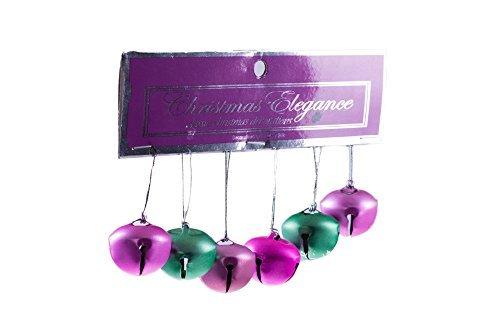 sortiert pink und grün Weihnachten Jingle Bells-Set von 6 (Party Store-santa Rosa)
