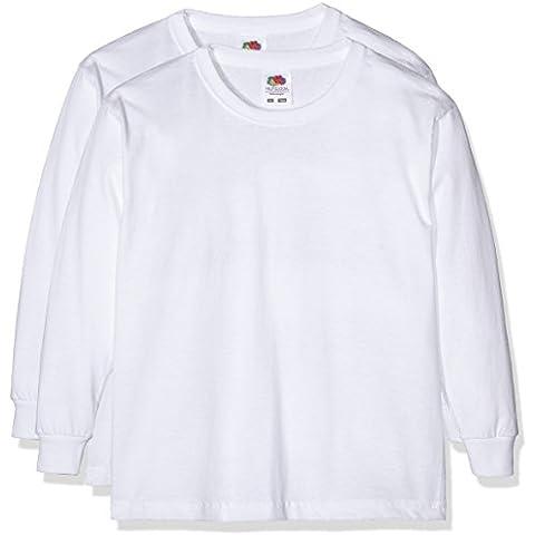 Fruit of the Loom 0610072 - Camiseta de manga larga para niños, lot de 2