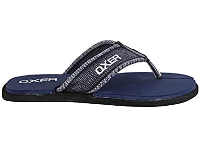 Ox Oxer Flip Flops Casual Slippers for Mens Style: RR-945-Blue, Size: 10
