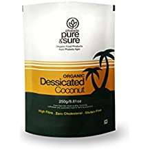 Pure & Sure Organic Desiccated Coconut Powder, 250g