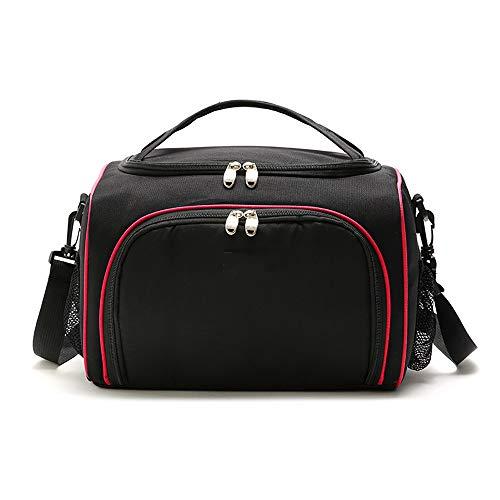 Maybesky Panier Pique-Nique Double Lunch Box Bag Noir Streamline Lunch Bag Isolation Portable Sac de Pique-Nique Sac de Glace pour Voiture Panier isolé (Couleur : Rouge)