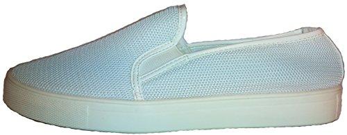 Superbequeme Mokassins in verschiedenen Farben, schwarz-weiß, blau oder weiß, Damenschuhe, Modell 11064109001950, Schuh für Damen, ein echter Hingucker-Schuh. Weiß flach.