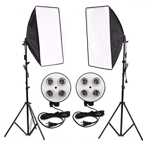 Yongse Photo Video Studio Lighting Kit 4-Sockel E27 Lampenhalter Softbox Light Stands Stand Accs Kit