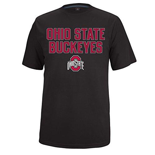 J. America Herren SS Basic State Iron Clad Poly Tee Ohio St, Herren, SS Basic Poly Tee, schwarz (State Football-t-shirt Ohio)