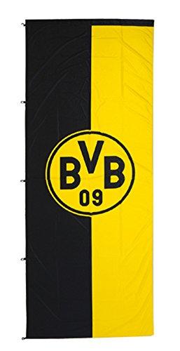 Borussia Dortmund BVB 89134400 Hissfahne 150x400cm im Hochformat, Schwarz/gelb, 150 x 400 x 1 cm