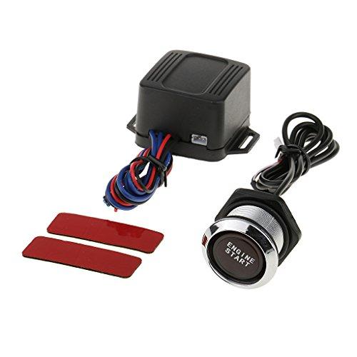 MagiDeal 12V Voiture Camion Moteur Démarrage Bouton Poussoir Allumage Démarreur Kit LED Lumière Pièce Automobile - Lumière Rouge