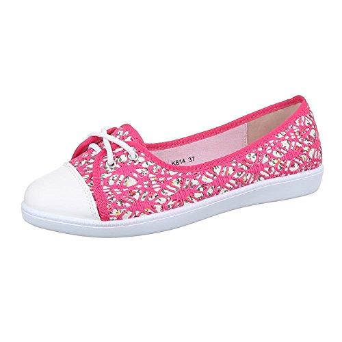 Damen Schuhe, K814, FREIZEITSCHUHE SLIPPER SNEAKERS Pink