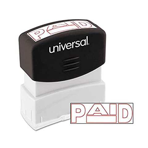 Message Stamp, PAID, Pre-Inked/Re-Inkable, Red