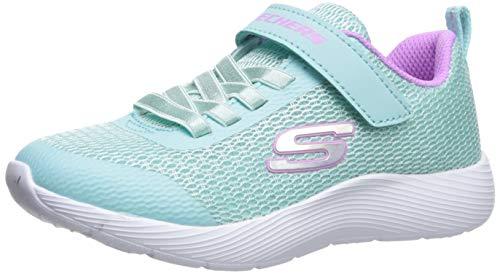 Skechers Mädchen Dyna-lite Sneaker, Türkis (Aqua Purple Aqua), 32 EU