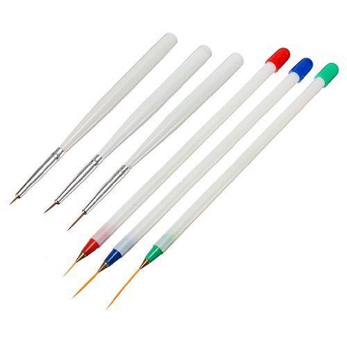 FACILLA® 6 X Pinceaux Stylo Brosse Nail Art Pour Ongle Manucure