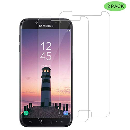 CNXUS [2 Stück Panzerglas Kompatibel mit Samsung Galaxy J7 2017, Samsung J7 2017 Panzerglasfolie Schutzfolie Ultra-klar 9H Härtegrad Anti-Öl, Kratzer Blasenfrei Samsung J7 2017 Displaychutzfolie