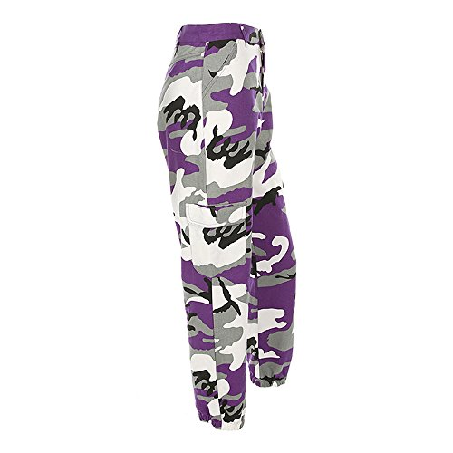 Camouflage Bedruckte Jeans Haremshose Malloom, Frauen Sport Camo Cargo Hosen Outdoor Casual Camouflage Hosen Jeans - Cargo-hosen Frauen Camo