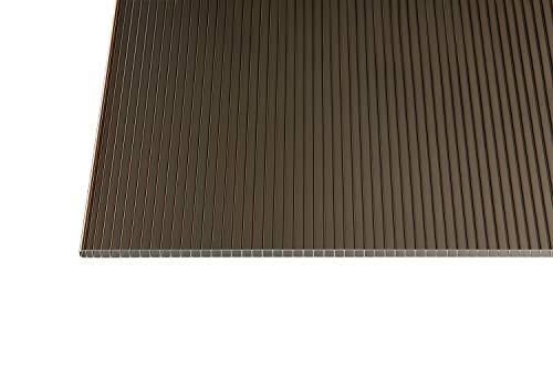 Polycarbonat Stegplatten Hohlkammerplatten bronce 10 mm (3500 x 1050 x 10 mm)