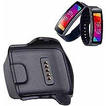 SeeMe® Cargador de cuna de carga Escritorio para Samsung Gear Fit R350inteligente reloj negro (Samsung Galaxy Gear R350)