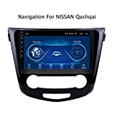 QQHHJY 9 Inch Car Stereo Android 8.1 Core HD Digital Multi-touch Screen Car Radio In-Dash Video Player Support Wifi GPS Navigation DAB Only Support Nissan Hacker (2016-2018)