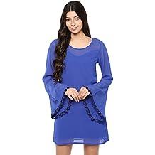Abiti Bella Women's Blue Bell sleeves dress