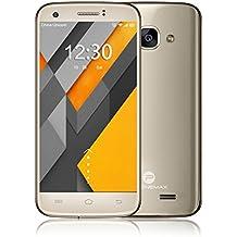 """Phonemax Q5 Smartphone móvil libre 4G de 5.0"""" 1280 x720 HD(cámara,5.0MP,Android 6.0, Pantalla 5.0"""", Quad Core, 16GB ROM, 2GB RAM, Dual SIM, )"""