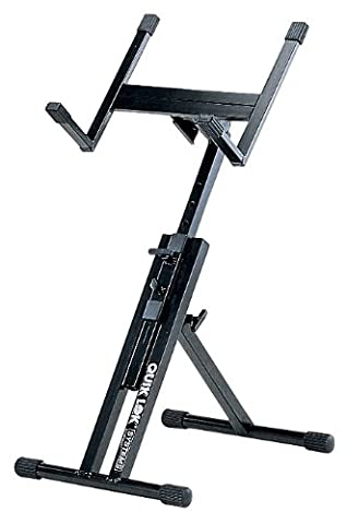 Quik Lok QL/640 Fully Adjustable Small Amplifier Monitor Stand - Black