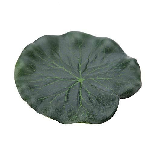 Pssopp 10 Stück Künstliches Lotusblatt 10cm Floating Lotusblatt Realistische Lily Pads Schwimmende Landschaft Lotus Pods Aquarium Wasser Landschaft Dekoration Teich Wasser Decor -