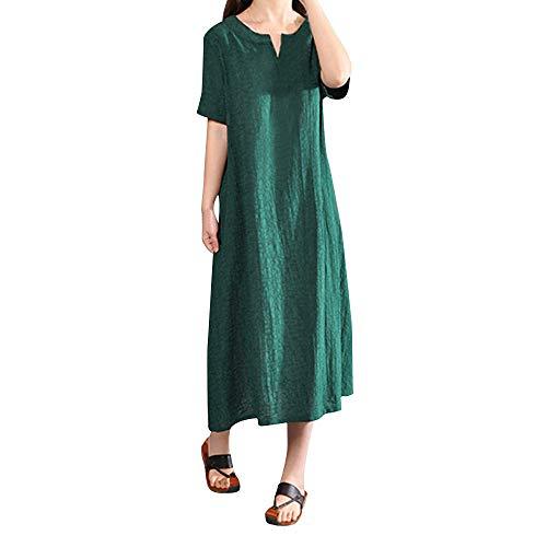 Kurzarm Kleid Kostüm - Fresofy Damen Kleider Lange Sommerkleid Kurzarm Cocktail Elegant Ballkleid Abendkleid Partykleid Strandkleider Elegante Maxikleid Lang Kleider Festliche Kostüm Lässige Kleidung