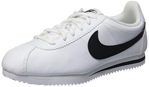 Nike Jungen Cortez (GS) Laufschuhe, Weiß/Schwarz, 35 1/2 EU (Schwarz Nike Weiß Cortez)