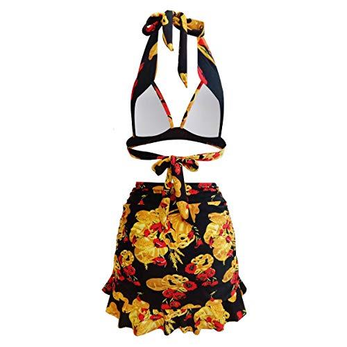 Yvonnelee Badeanzug fur Damen aus Stoff Material Endurance zweiteiliges Badeanzug Vorgeformte XXXL - 4