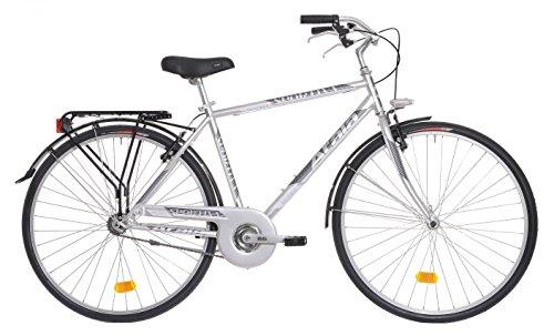Bicicletta da città da uomo Atala Sportiva grigio metallizzato 28'
