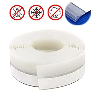 Bro 5 Layers Transparent Draught Excluder Seal Strip Tape, Adhesive Soundproofing Weatherstrip Draft Stopper, Pack of 2 Rolls Total 10 Meters