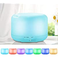 UBEGOOD Aroma Diffuser 300 ml Ultrasonic Vibration Atomization Electric Oil Diffuser with 7 Colours LED Aromatherapy Diffuse for Office, Yoga, Spa, Bedroom