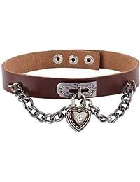 Damen Halsband Choker Kropfband Kette Vintage Gothik Punk Halsketten & Anhänger Uhren & Schmuck