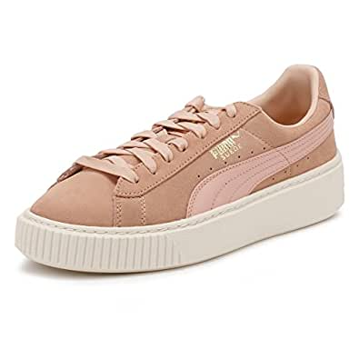 Puma Basket Platform Core, Sneakers Basses Femme, Blanc White White, 38.5 EU