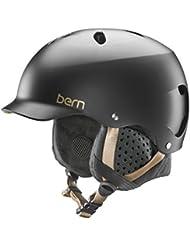 Bern Lenox Casco, Mujer, Satin Black, S