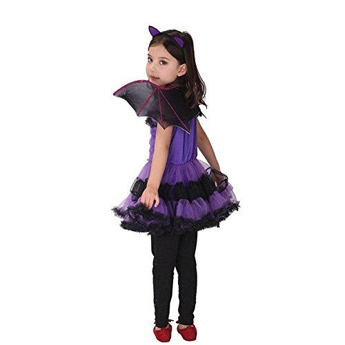 Imagen de jt amigo disfraz de murciélago para niña halloween, 7 8 años alternativa