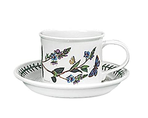 Portmeirion Botanic Garden Drum Shaped Breakfast Cup and Saucer, Set of 6 by Portmeirion