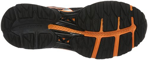Asics Gel Pulse 8, Chaussures de Running Compétition Homme Noir (Black/Silver/Hot Orange)