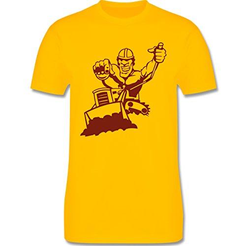 Handwerk - Raupenfahrer - Herren Premium T-Shirt Gelb