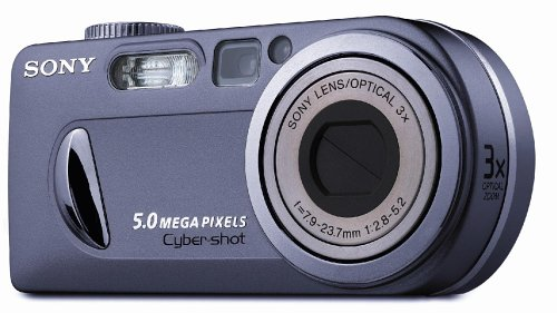 Sony Cyber-Shot DSC-P10 Digitalkamera (5,0 Megapixel) Silber (Player Cd Es Sony)