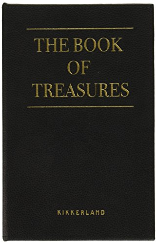 Kikkerland Jewelry Book Of Treasures, papier, noir, 15,5 x 3,5 x 24 cm
