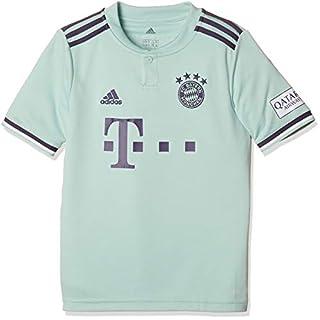 adidas Kinder 18/19 FC Bayern Away Trikot, ash Green/Trace Purple/White, 152
