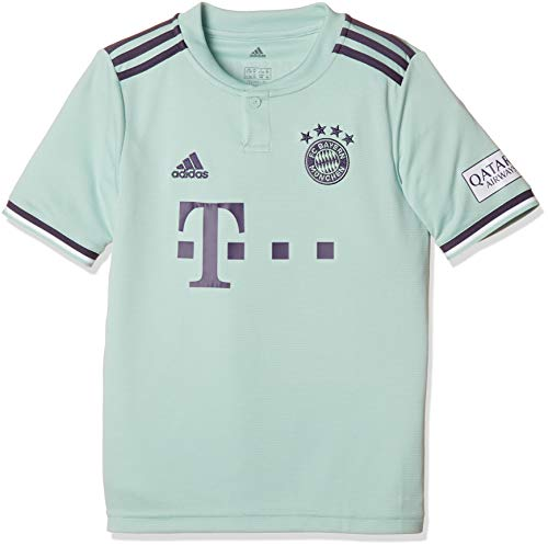 adidas Kinder 18/19 FC Bayern Away Trikot, ash Green/Trace Purple/White, 128
